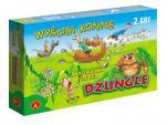 Wyścigi konne, wyprawa przez dżunglę - 2 gry planszowe,