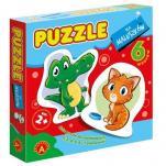 Puzzle dla maluszków krokodyl - ,