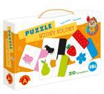 Puzzle - Wzory, kolory - Kojarzenie i łączenie,