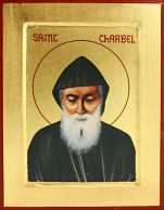 Ikona Święty Charbel (Szarbel) średnia - ,