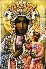 Matka Boża Częstochowska w sukni - ,