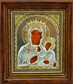 Ikona Matka Boża Częstochowska srebrna bardzo mała - ,