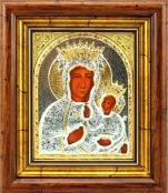 Ikona Matka Boża Częstochowska srebrna średnia - ,