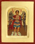 Ikona Święty Michał Archanioł chmurka, bardzo mała - ,
