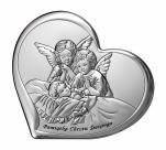 Aniołki nad dzieciątkiem obrazek srebrny 6451/2 - 6451/2,
