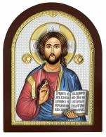 Chrystus Pantokrator obraz srebrny AE0803/4D - AE0803/4D,