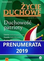 Życie duchowe - prenumerata 2019 - rocznik, prenumerata elektroniczna, Jacek Siepsiak SJ (red. nacz.)