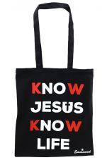 Know Jesus Know Life - torba czarna - ,