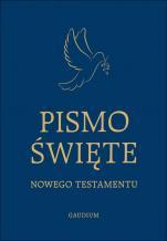 Pismo Święte Nowego Testamentu duża czcionka granatowe - ,