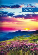 Terminarz B7 Kolorowy - Łąka - Dzień po dniu 2020 roku,