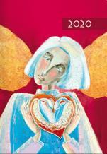 Terminarz B7 Kolorowy - Anioł - Dzień po dniu 2020 roku,