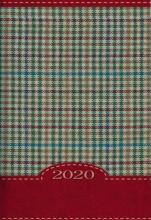 Terminarz B7 Kolorowy - kratka czerwona - Dzień po dniu 2020 roku,