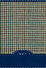 Terminarz B7 Kolorowy - kratka niebieska - Dzień po dniu 2020 roku,