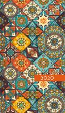 Terminarz tygodniowy Kolorowy - Ornament - Z tygodnia na tydzień 2020 roku,