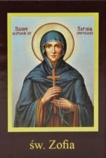 Ikona Twojego Patrona - św. Zofia - ,
