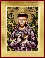 Ikona Święty Franciszek średnia - ,