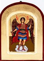 Ikona Święty Michał Archanioł chmurka zaokrąglona bardzo mała - ,