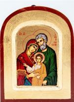 Ikona Święta Rodzina (Józef stary zaokrąglona bardzo mała) - ,