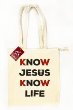 Know Jesus Know Life - torba beżowa - ,