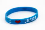 Opaska - I love Jesus czarna niebieska - ,