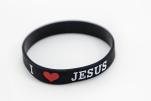 Opaska - I love Jesus czarna - ,