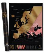 Mapa Zdrapka VIP Europa© - ,