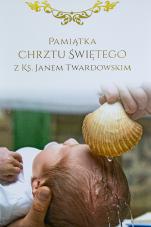 Pamiątka Chrztu Świętego z ks. Janem Twardowskim - ,