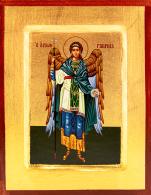 Ikona Święty Gabriel Archanioł granatowy płaszcz duża - ,