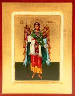 Ikona Święty Rafał Archanioł zielony płaszcz średnia - ,