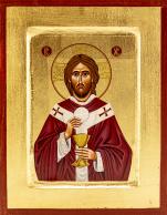 Ikona Jezus Chrystus Najwyższy Kapłan mała - ,