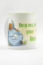 Kubek - Kto się śmieje, mówi językiem aniołów zielony - ,