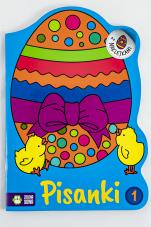 Pisanki 1 Kolorowanki z naklejkami - Kolorowanki z naklejkami, Ewa Gołofit
