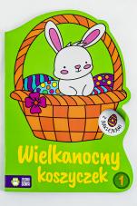 Wielkanocny koszyczek 1 Kolorowanki z naklejkami - Kolorowanki z naklejkami, Ewa Gołofit