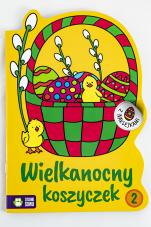 Wielkanocny koszyczek 2 Kolorowanki z naklejkami - Kolorowanki z naklejkami, Ewa Gołofit