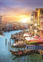 Terminarz A5 Kolorowy - Wenecja - Na każdy dzień 2021 roku,