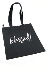 Blessed! - torba, czarna z zamkiem - ,