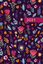 Terminarz B7 Kolorowy - Ornament - Dzień po dniu 2021 roku,