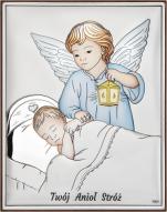Aniołek z latarenką nad dzieciątkiem kolorowy DS33/2C - DS33/2C,