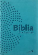 Biblia dla kobiet turkusowa z suwakiem złocona - wersja w etui zamykanym na zamek,